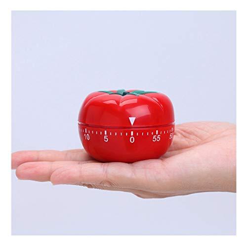 GYC M Schreibtisch-Taktgeber, Tomate Uhr Tomate Timer Arbeitszeitmanagement Küche Tomate Wecker Mechanische Erinnerung Rot n