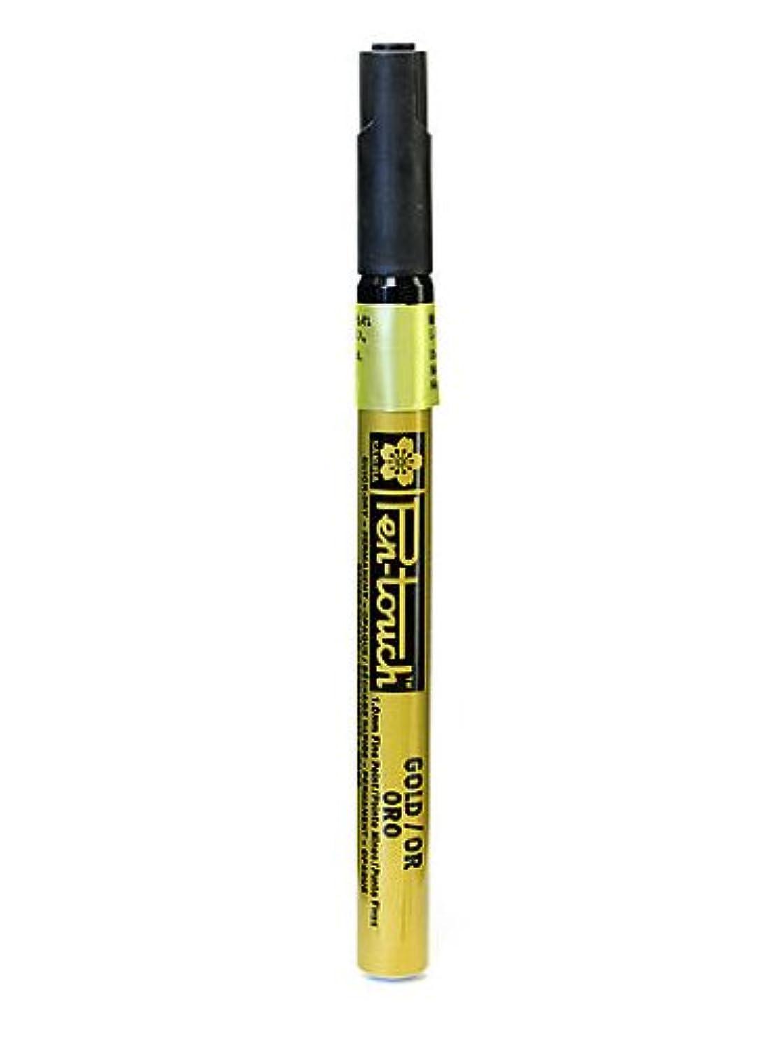 Sakura Pen-Touch Marker 1.0 mm fine gold [PACK OF 4 ]