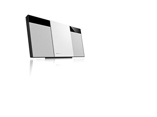 Panasonic SC-HC304EG-W Design-Stereo mit Digital DAB+ (Bluetooth, UKW, , CD, Micro- mit 20 Watt RMS) weiß