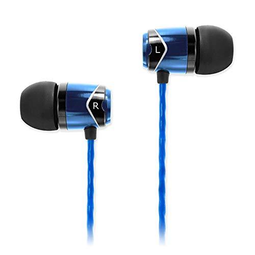 SoundMAGIC E10 イヤホン ノイズキャンセリング 有線 カナル型 強力低音 HIFI ステレオ スポーツ(ブルー)