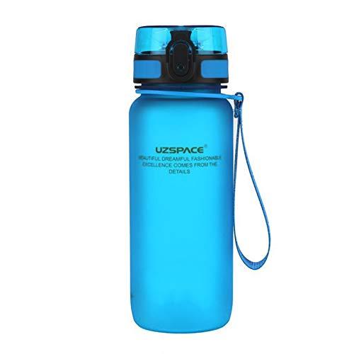 Vasos de Agua de plástico para Hombres y Mujeres, Vasos de Agua de Ocio para Estudiantes, Gran Capacidad para Exteriores, adecuados para Correr, Jugar a la Pelota y Andar en Bicicleta (Azul)