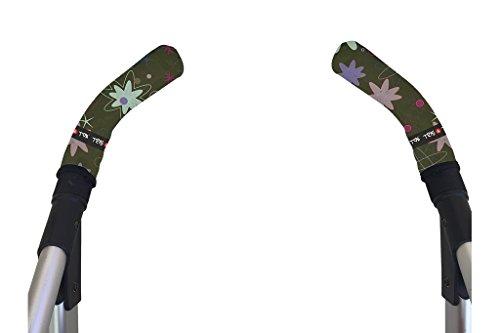 Tris&Ton Fundas empuñaduras verticales Modelo Pinguino, empuñadura funda para silla de paseo cochecito carrito carro (Tris y Ton) (Verde botella)