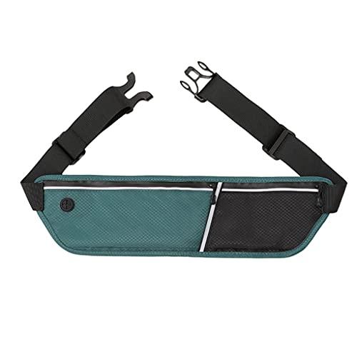 Cinturón Universal Corriendo Corriendo Bolsa de Cintura Senderismo Campo Camping Ejercicio Holder (Color : Green)