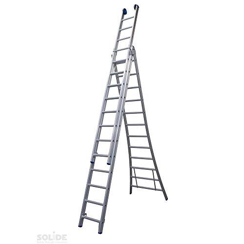 Ladder Type DB driedelig uitgebogen 3x14 sporten + gevelrollen