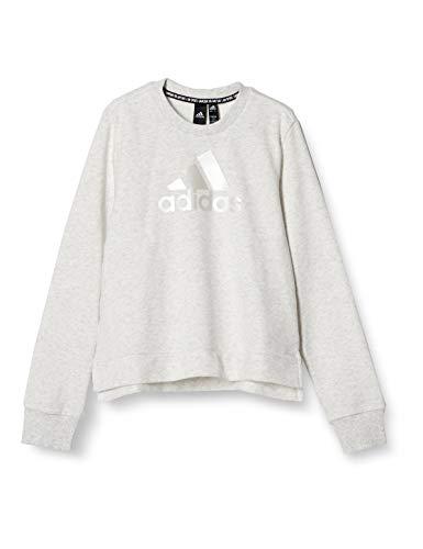[アディダス] スウェット キッズ Future Icons ロゴ クルースウェットシャツ JKL09 ホワイトメランジ(GM6942) 日本サイズ110 相当