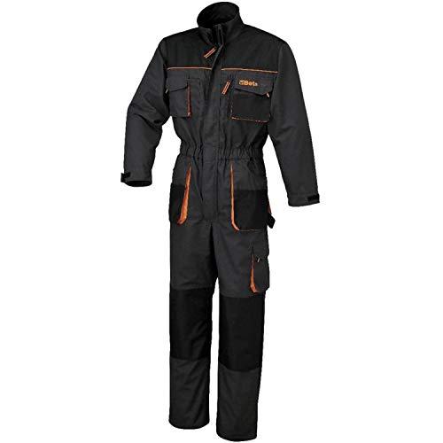 Beta 7865E Arbeitsoverall, Arbeitskleidung (Schutzanzug Größe XL, verstellbare Ärmelverschlüsse, Arbeitskombi mit verschiedenen Taschen zur Aufbewahrung, optimierte Passform), Anthrazit/Orange