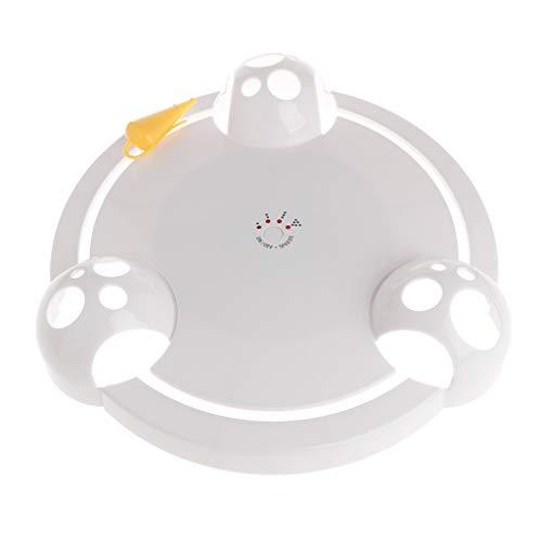 Koobysix Cat benodigdheden Cat Teaser elektrische plaat huisdier speelgoed hond Kitten Puppy Kunstmatige Muis 360 Rotatie Automatische Grappige Interactieve Speel Geschenken Oefening Muizen Vang Speelgoed Geschenken voor uw Katten