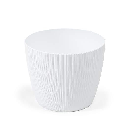 Lamela - Vaso per fiori per erbe aromatiche, Magnolia Jumper   Supporto per davanzale da balcone giardino   Organizer box decor   Mix Match! Play! (Ø 190 mm H 150 mm, bianco)