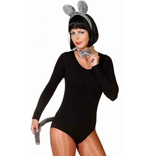 Complementos para disfraz de ratn (orejas, lazo y cola)