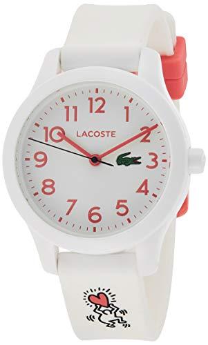 Lacoste Unisex Kinder Analog Quarz Uhr mit Silikon Armband 2030016