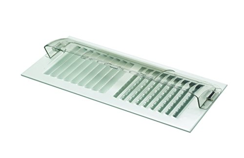 """Deflecto Unbreakable Heat and Air Deflector, Clear Plastic, 2 3/4"""" Tall, Width Adjustable 10"""" to 14"""", (50)"""