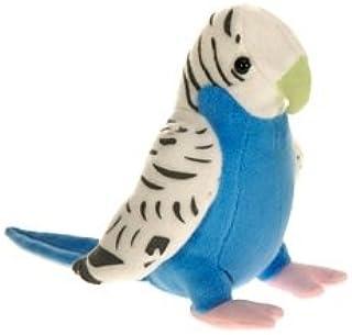 Fiesta Plush Parakeet (White and Blue) 6in Bird Parrot