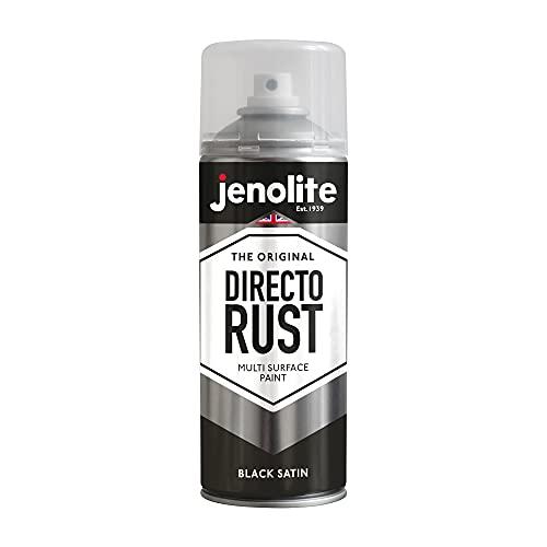 JENOLITE Directorust - Vernice Spray Antiruggine per Metallo - Direttemente sulla ruggine - Nero Raso - 400ml