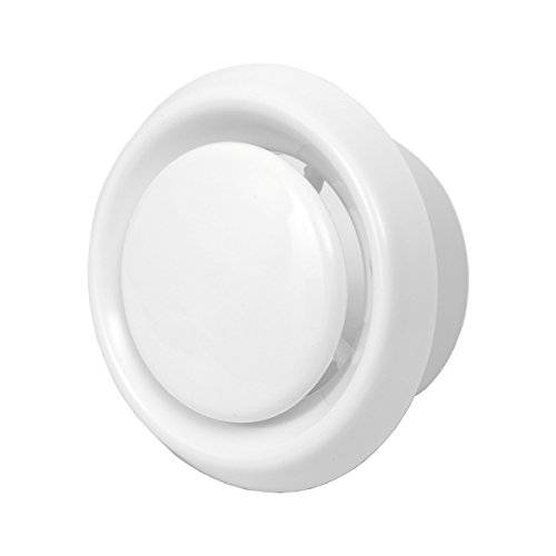 4'' Air Vent - Grill Cover - White Home Wall Ceiling Diffuser - Exhaust Supply Valve - Round Ventilation - Ducting Hose Covers