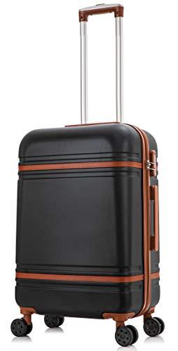 DK Luggage Starlite ABS-147 Cabin 20' Hardshell Suitcase 4 Wheel Spinner Black