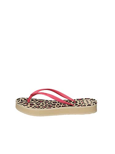 Havaianas Slim Flatform Animals Flip Flops Women Beige/Pink - 9/9.5 - Flip Flops Shoes