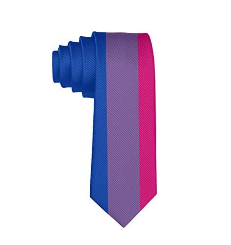 Bisexual Flag Classic Men Silk Tie Woven Jacquard Neck Ties