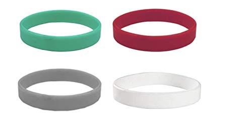 Beyond Dreams 4 bracciali per fitness motivation in silicone | Bracciale in gomma per sport | Wristband gioielli | Braccialetto motivazionale Power Band Unisex (verde, rosso, bianco, grigio)