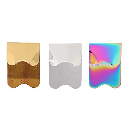 3 pièces modèles d'art d'ongle, coupe-bordure en acier inoxydable français bricolage décorations outil de coupe de plaque pour salons de manucure