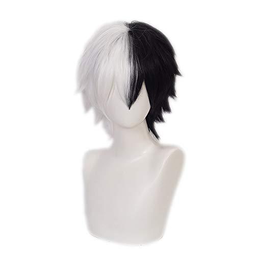 OSIAS Monokuma Cosplay Wig, Danganronpa Cosplay Wig, Anime Cosplay Wig with Free Cap