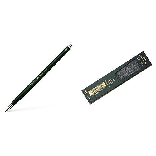 Faber-Castell 139400 - Portaminas Hb 2 mm + 127102 - Minas para portaminas (2B, 2 mm, 10 unidades)