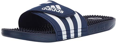 adidas Unisex Adissage Slides, dark blue/white/dark blue, 9 Men's/10 Women's