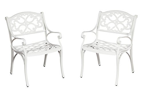 Biscayne White Arm Chair Pair by Home Styles