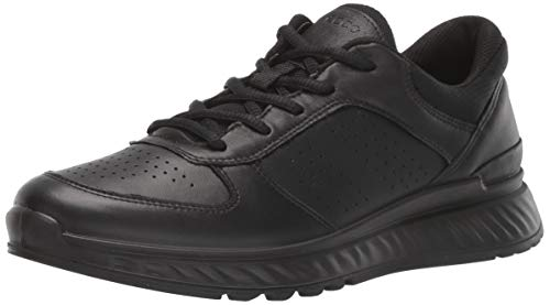 ECCO womens Exostride Sneaker, Black, 10-10.5 US