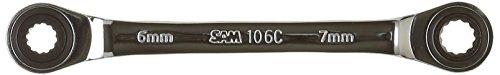 SAM Outillage 106C-6X7 Clé polygonale cliquet 6 x 7 mm Argent