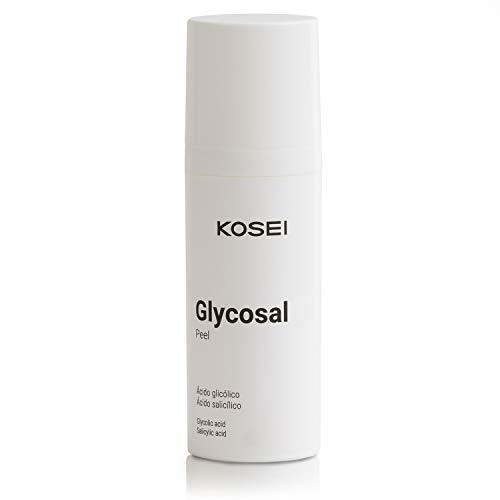 Kosei - Glycosal Peel - Peeling Facciale con Acido Glicolico - 50 ml - Effetto Esfoliante - Rinnovamento Cellulare - Pulisce i Pori - Senza Profumo - Con pH Acido - Unisex - Senza Coloranti - Vegano