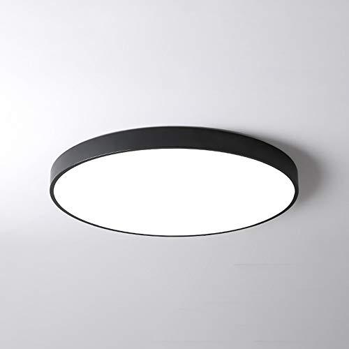 PUCHIKA LED Deckenleuchte Ultra Dünn Deckenlampe Bürolampe Rund Wohnzimmer Kinderzimmer Lampen 40cm 24W Schwarz