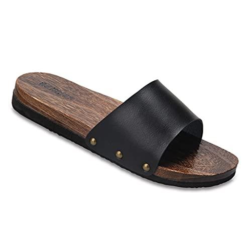 YXCKG Sandali con Zoccoli di Legno Pantofole E Sandali Piatti da Esterno Infradito, Pantofole Aperte in Punta di Scarpe Tradizionali Giapponesi, Pantofole Uomo Donna Suola Antiscivolo