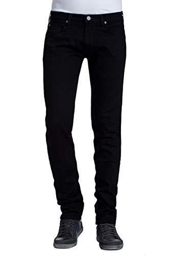 Lee Luke Medium Stretch Jeans, Negro (Clean Black), 34W   30L para Hombre