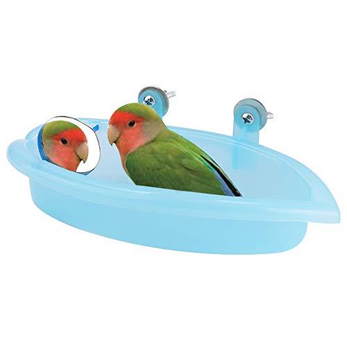 HEEPDD Bagno Uccelli con Specchio, Bagno Pappagallo Celeste per acciughe Parrocchetti Pappagallo Cockatiel
