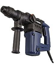 Ferm HDM 1028 Pneumatische Boorhamer 850W - Zijhandgreep - inclusief 3x SDS Plus boring en 2x SDS Plus hoes, zwart, blauw, grijs, metallic