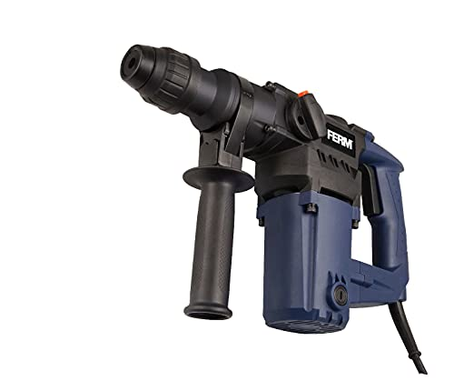 FERM Bohrhammer 850W - Seitengriff - Bohren, Hammerbohren und Meißeln - Inkl. 3x SDS Plus Bohrköpfen und 2x SDS Plus Werkzeugköpfen