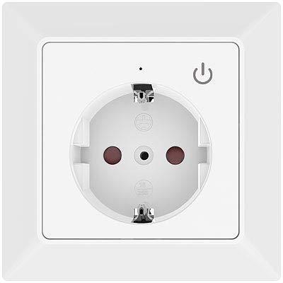 Luminea Home Control Smart Home: WLAN-Unterputz-Steckdose mit App, für Siri, Alexa & Google Assistant (Smarthome Unterputz-Steckdose)
