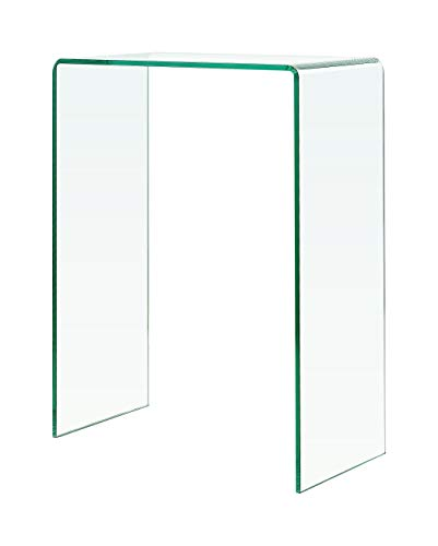 Glass Tables Online Glass Console Table Extra Small 60cm length x 30cm width x 80cm height - 12cm Thick Glass