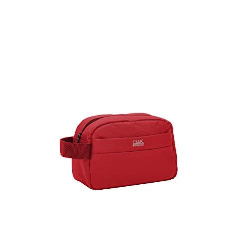 Ciak Roncato Necessaire Beauty da Viaggio Leggerissimo Collezione SMART 24 cm in Tessuto Jacquard Rosso