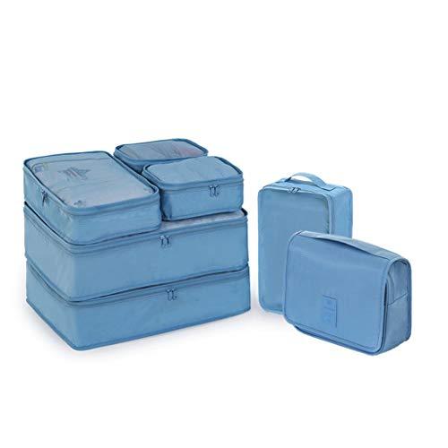 MXLS Aufbewahrungstasche Reisekoffer Gepäck Aufbewahrungstasche Unterwäsche Tasche Tragbare Reisekleidung Unterbeutel Sieben Stücke,B