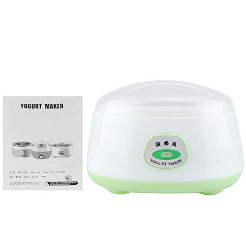 Yogurtera Electrica, 220 V 1L Hecho en casa Automático Fabricante de yogur Yogur Crema Eléctrica Máquina Hacedora de Yogur Herramienta de BRICOLAJE (Verde)