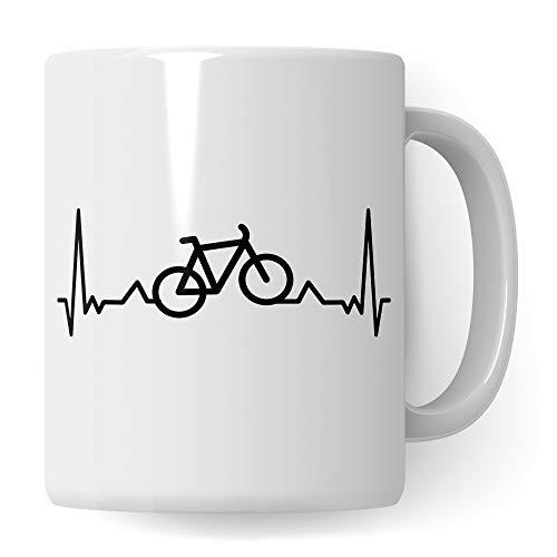 Pagma Druck Fahrrad Geschenk, Fahrrad Tasse Fahrradmotiv, Geschenkidee Fahrradfahrer Fahrräder Rennrad Becher, Kaffeetasse Radfahrer Mountainbike Mountainbiker Radfahren Kaffeebecher