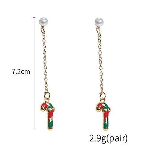 BLINGBRY nieuwe ideeën lange druppeloorbellen eenvoudige beugels kleine rendiersokken oorbellen dames mode-accessoires