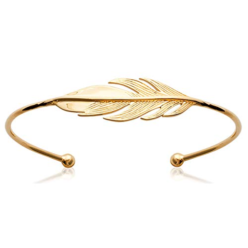 Les Trésors De Lily [N6961] - Vergoldete armband offen 'Navajos' golden.