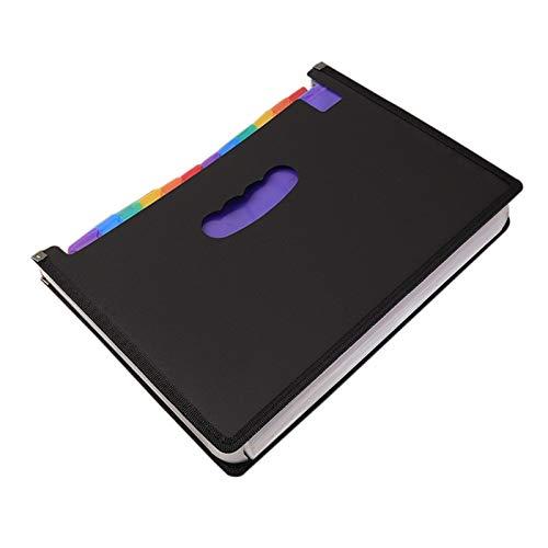 Bolso del soporte del documento Organizador de archivos de acordeón de mano portátil Organizador de negocios de plástico caja de organizador / soporte multicolor de gran capacidad Carteras de expansió