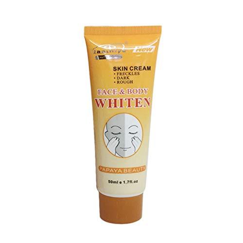 50G Facial Cuidado de la Piel Crema Blanqueadora Esencia Natural de Papaya Exfoliante Hidratante Cara Cuidado Corporal Crema de Manos