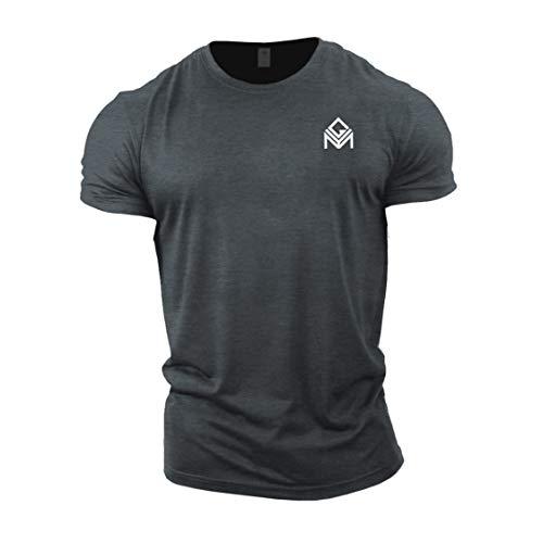 GYMTIER Gym T-Shirt | Mens Bodybuilding Training Top Clothing Plain Branded Grey