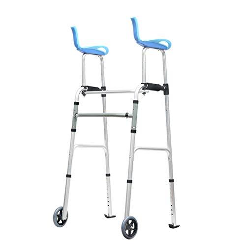 Silla de Ruedas Wheelchair Sillas de Ruedas Andador Discapacitado, Material De Aleación De Aluminio Marco para Caminar De Edad Avanzada, Mango Antideslizante De Andador Adulto, Adecuado para Personas