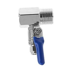 JENOR purificador de agua inversa Osmosis Tee válvula de bola de entrada Set 1/2 pulgadas BSP a 1/4 pulgadas tubo