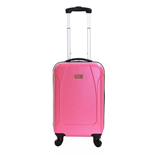 Karabar Hard Cabin Carry-on Hand Luggage Suitcase Bag 55 cm 2.4 kg 35 litres 4 wheels, Evora Pink